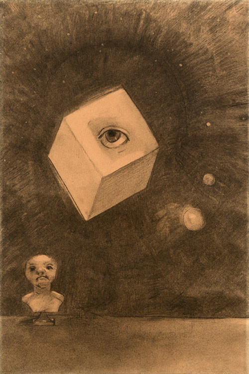 Odilon Redon, The Cube, 1880, Private Collection