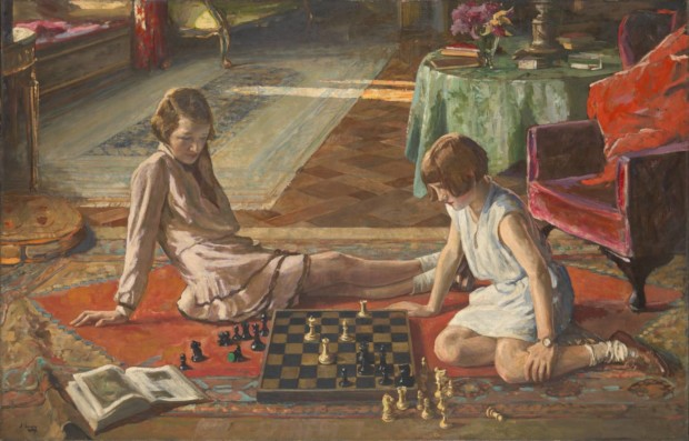 The Chess Players 1929 Sir John Lavery 1856-1941 Presented by the Trustees of the Chantrey Bequest 1930 https://www.tate.org.uk/art/work/N04544