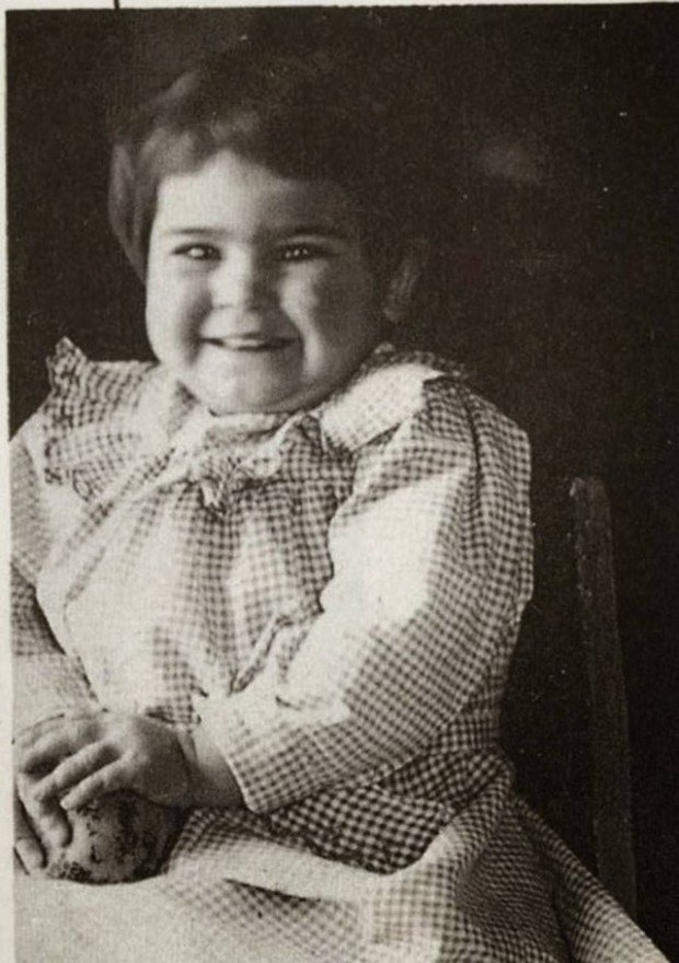 Frida Kahlo at age 2 in 1909