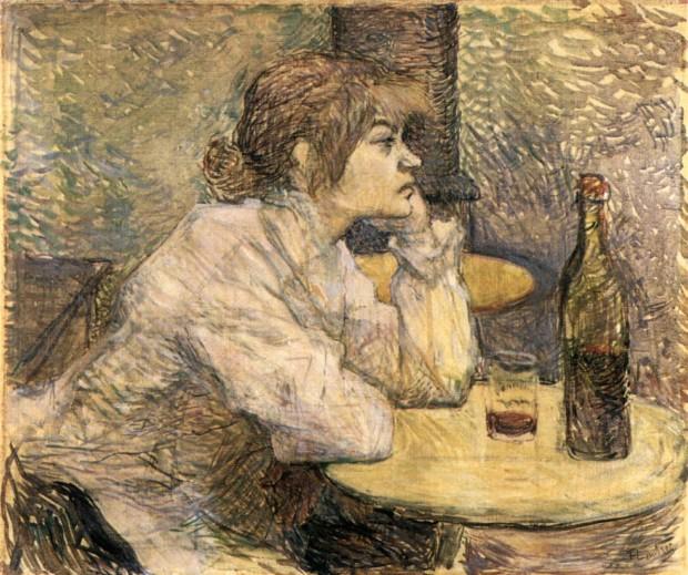 Henri de Toulouse-Lautrec, Hangover: The Drinker (Suzanne Valadon), 1887