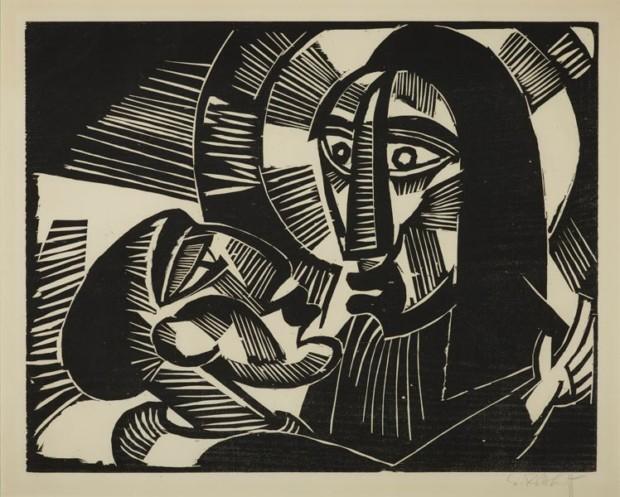 Karl Schmidt-Rottluff: Kristus and Judas, 1918. Woodcut; © VG Bild-Kunst Bonn, 2011