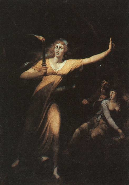 Henry Fuseli, lady macbeth Sleepwalking