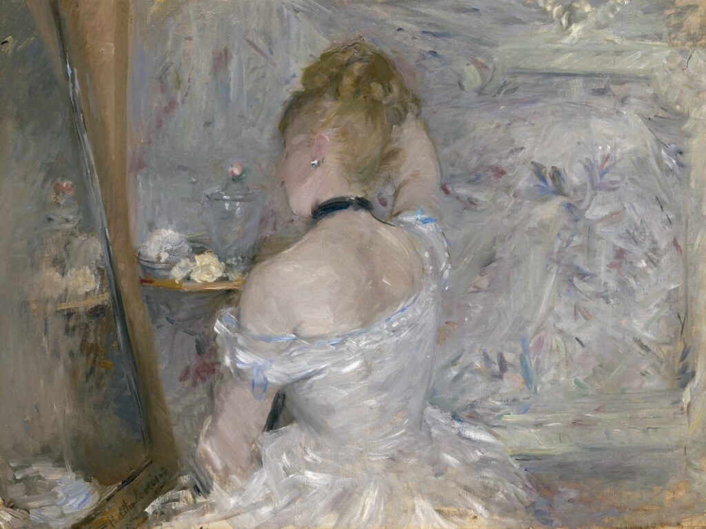 Women Impressionists: Berthe Morisot, Woman at Her Toilette, 1875/80, Art Institute of Chicago.