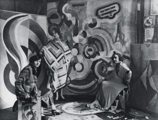 Sonia Delaunay and two friends in Robert Delaunay's studio, rue des Grands-Augustins, Paris 1924Bibliothèque nationale de France, Paris