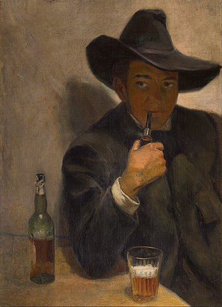 Diego Rivvera, Self-portrait with a broad-brimmed hat, 1907, Museo Dolores Olmedo