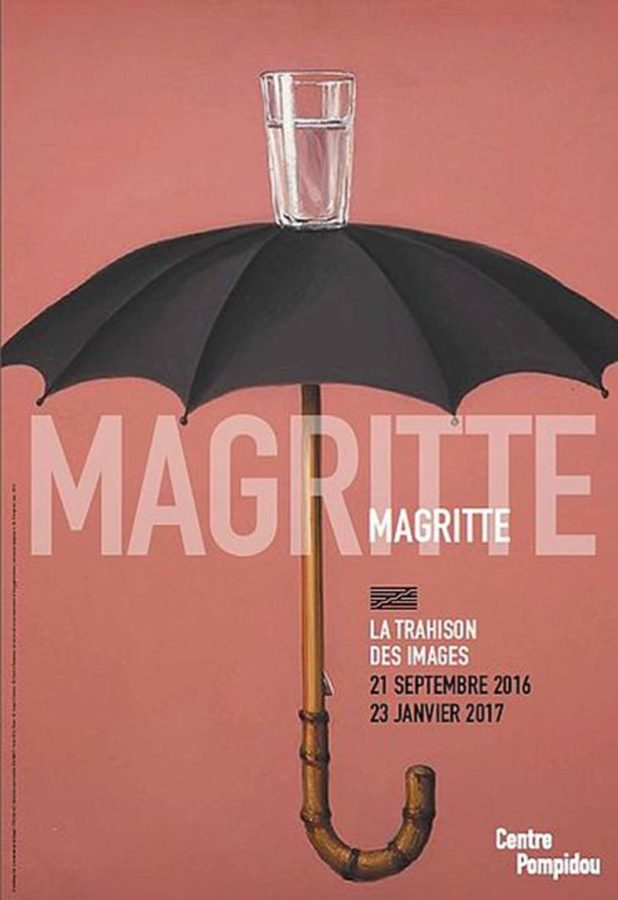 The poster for the exhibition at Centre Pompidou