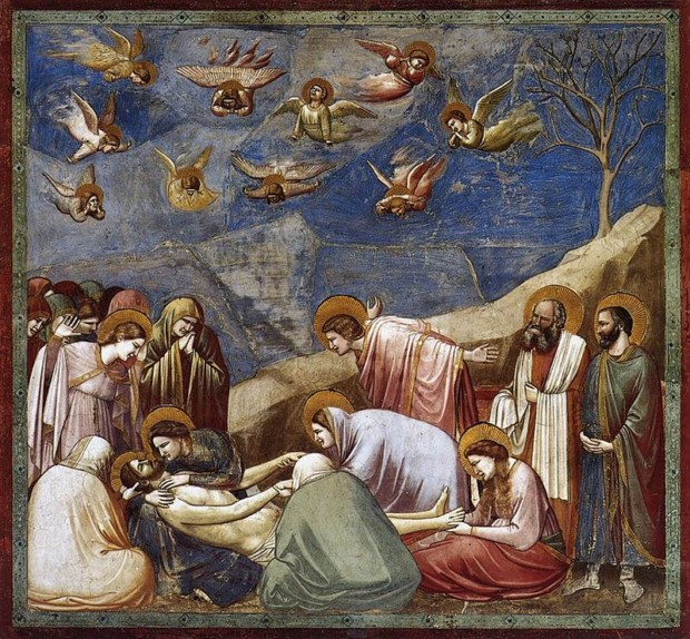 Giotto di Bondone, The Mourning of Christ, 1300-5, Scrovegni Chapel