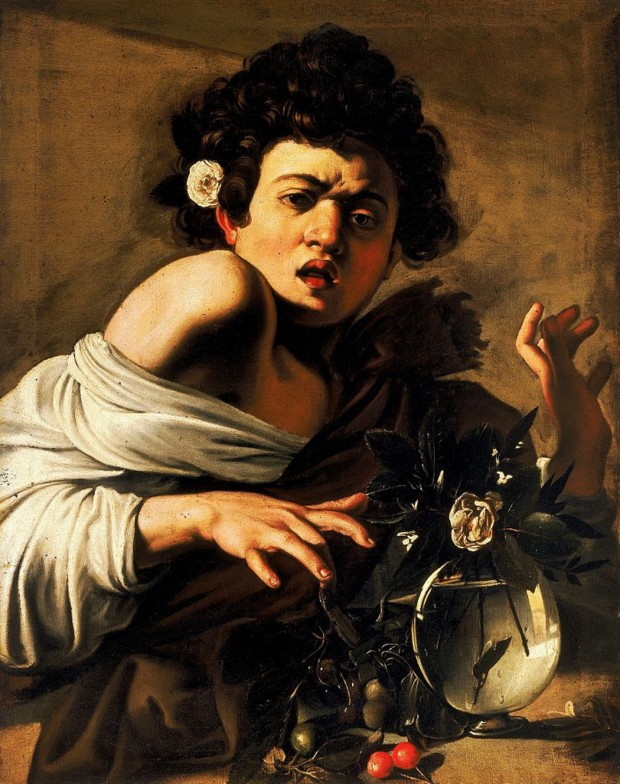 Caravaggio, Boy Bitten by a Lizard, 1593–1594, National Portrait Gallery