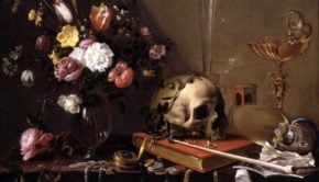 Adriaen van Utrecht - Vanitas, composition with flowers and skull, 1642, private collection