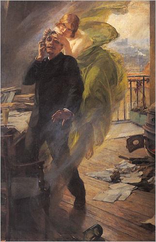 Albert Maignan, Green Muse, 1895, Musée de Picardie, Amiens.