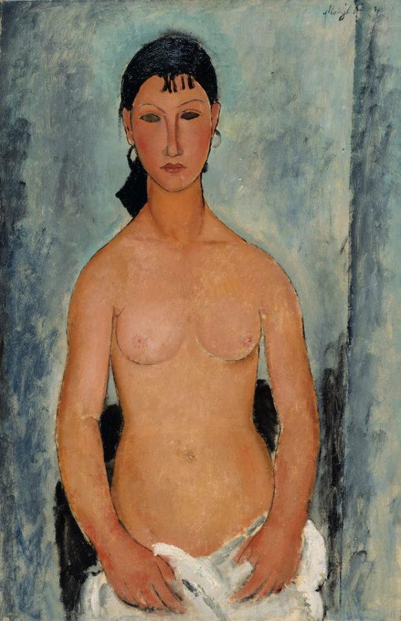 Amadeo Modigliani: Standing Nude (Elvira), 1918, Kunstmuseum Bern