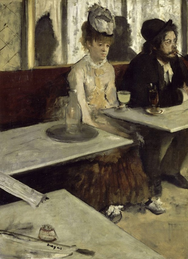 Edgar Degas, In a cafe (Absinthe), 1876, Musee d'Orsay