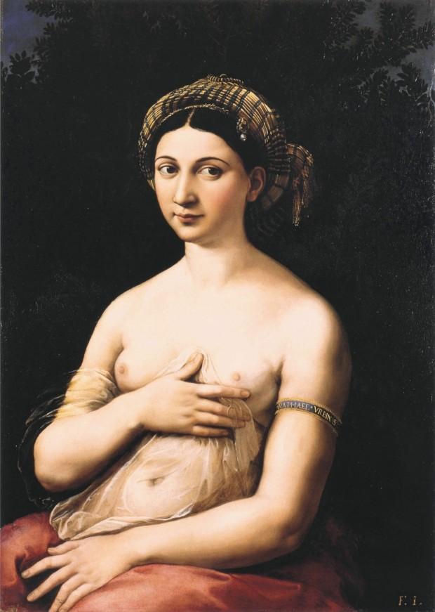 Rafael Santi, La Fornarina, Galleria Nazionale d'Arte Antica, 1518–1520