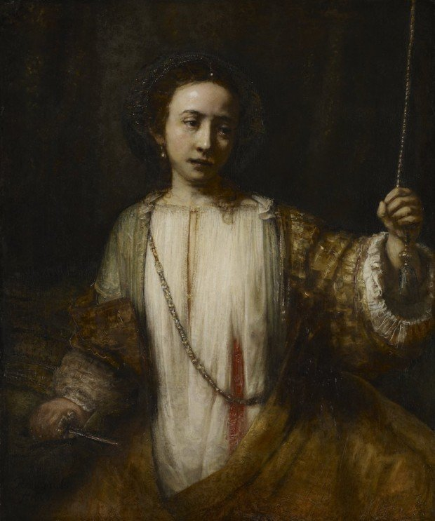 Rembrandt van Rijn, Lucretia, 1666, National Gallery of Art, Washington