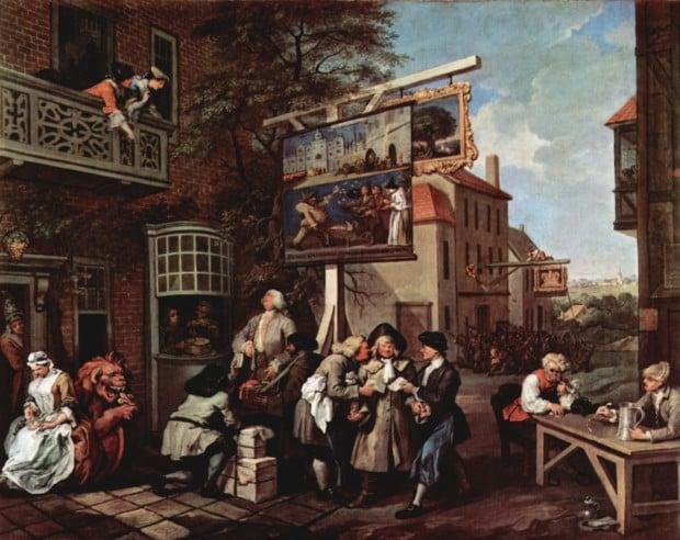 William Hogarth, Canvassing for votes, 1755, Sir John Soane's Museum, London