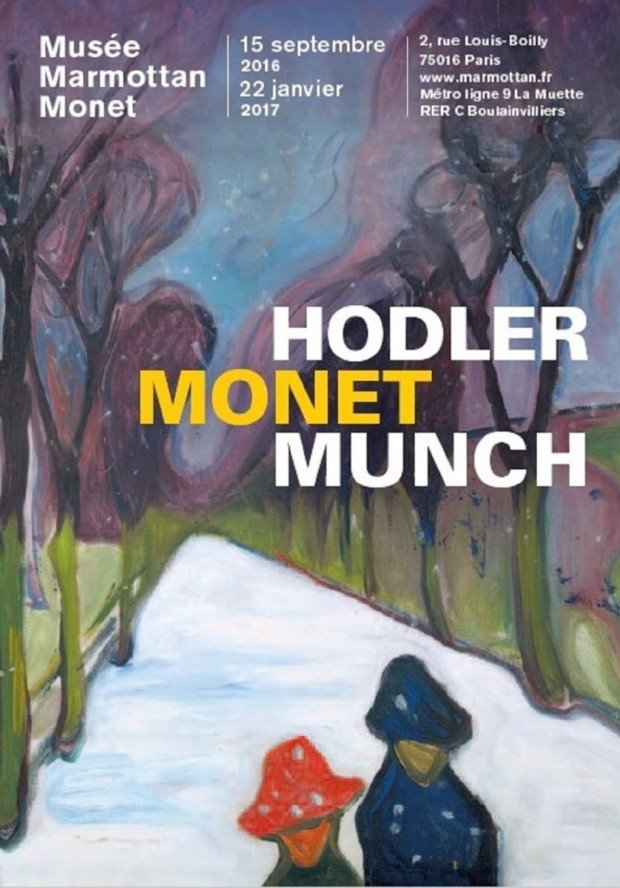 The poster of the exhibition 'Hodler/Monet/Munch'