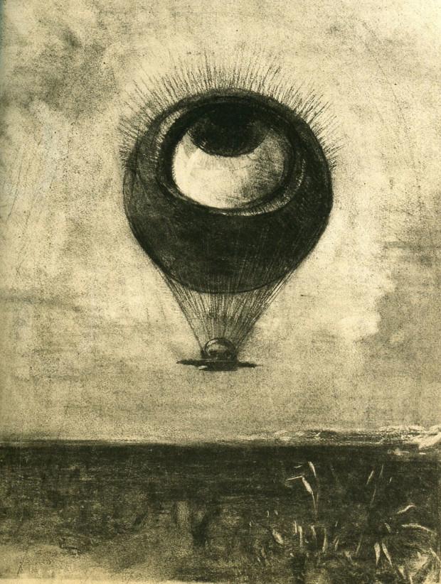 Odilon Redon, Eye-Balloon, 1878