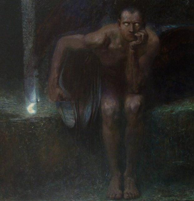 Franz von Stuck, Lucifer, National Gallery, Sofia, 1890