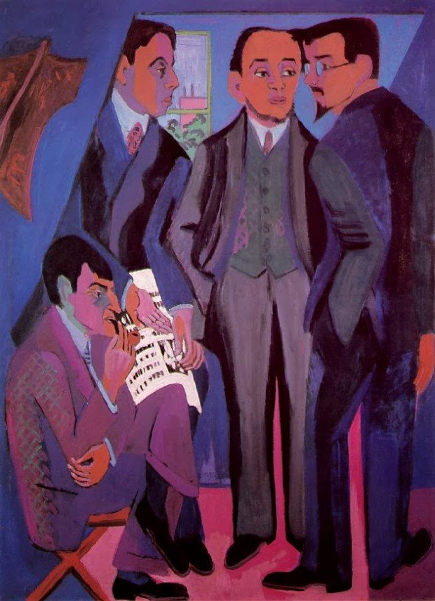 Ernst Ludwig Kirchner, Group of Artists (The Painters of the Brücke), 1926/27, Museum Ludwig, Köln