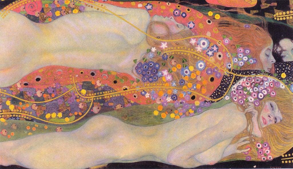 Gustav Klimt, Water serpents II,