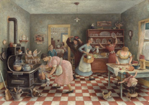Doris Lee,Thanksgiving, 1935, Art Institute of Chicago