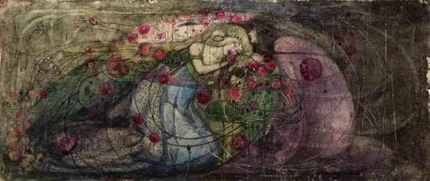 Frances MacDonald, Prince and the Sleeping Princess, The Hunterian Museum and Art Gallery, University of Glasgow