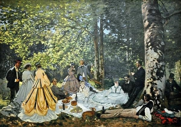 Claude Monet, Luncheon on the Grass, 1866, Pushkin Museum, Moscow Shchukin collection