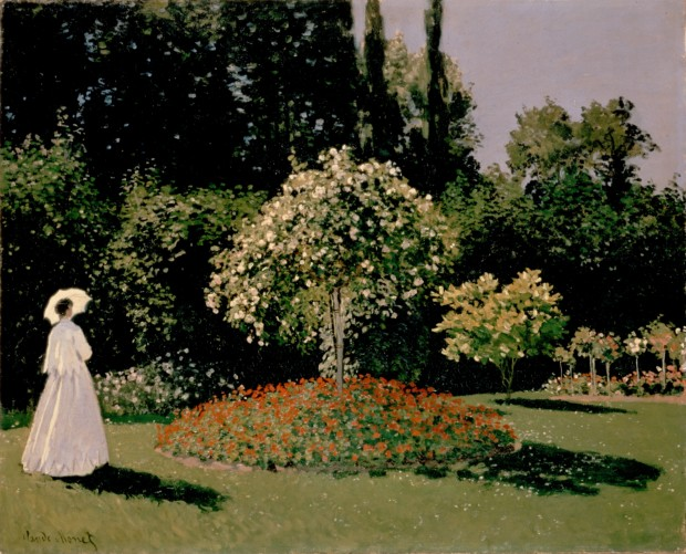 Claude Monet, Woman in the Garden, Sainte-Adresse, 1867, Hermitage Museum, Saint Petersburg