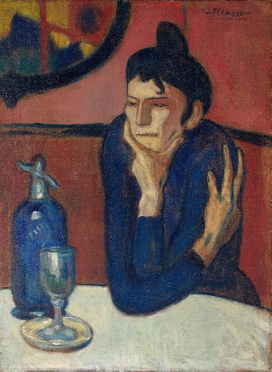 Pablo Picasso, Absinthe Drinker, 1901, Hermitage Museum, Saint Petersburg Shchukin collection