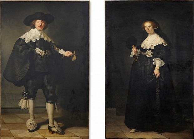 Rembrandt, Pendant Portraits of Maerten Soolmans And Oopjen Coppit, 1634, Louvre/Rijksmuseum.