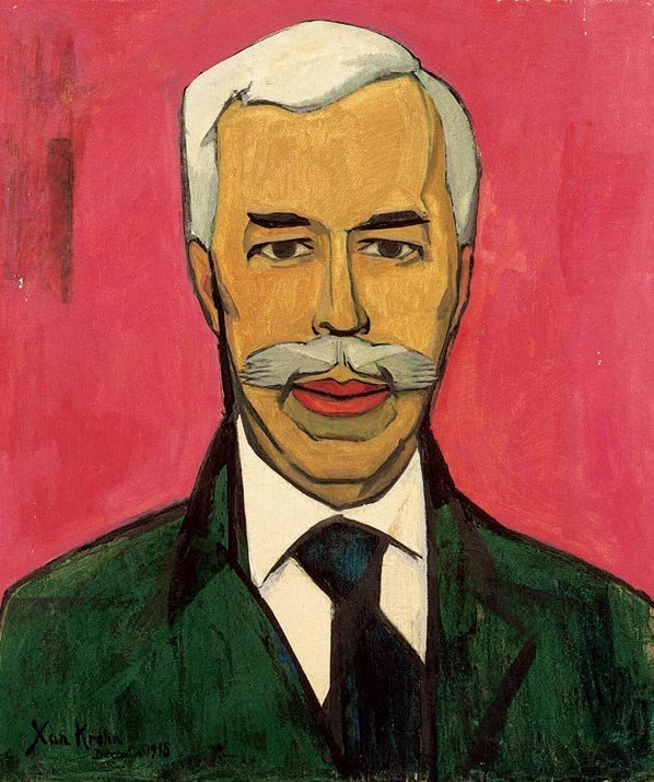 Xan Krohn, Portrait of Sergei Shchukin, 1915, The State Hermitage Museum, Saint Petersbourg
