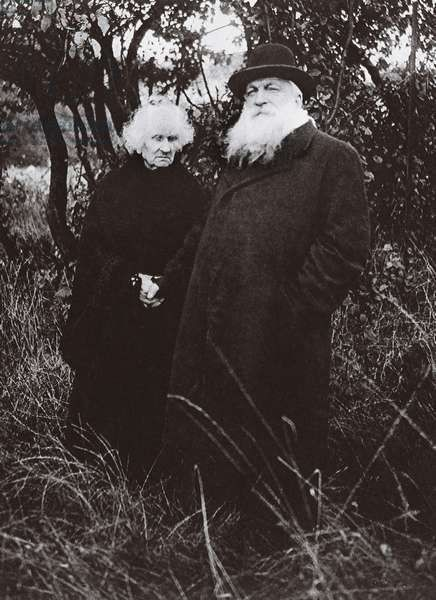 Auguste Rodin with his companion Rose Beuret in the Garden of his Villa at Meudon from L'Illustration magazine 1916