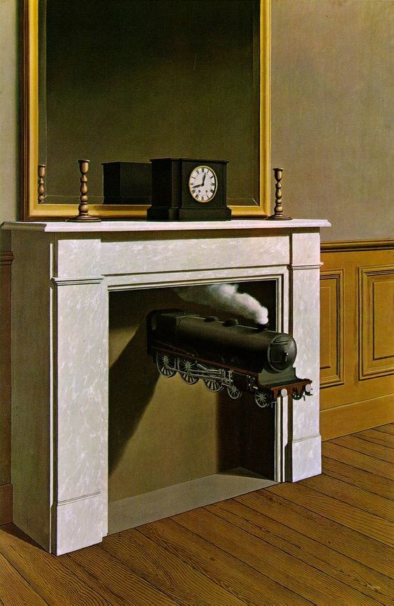 René Magritte, Time Transfixed, 1938, Art Institute of Chicago