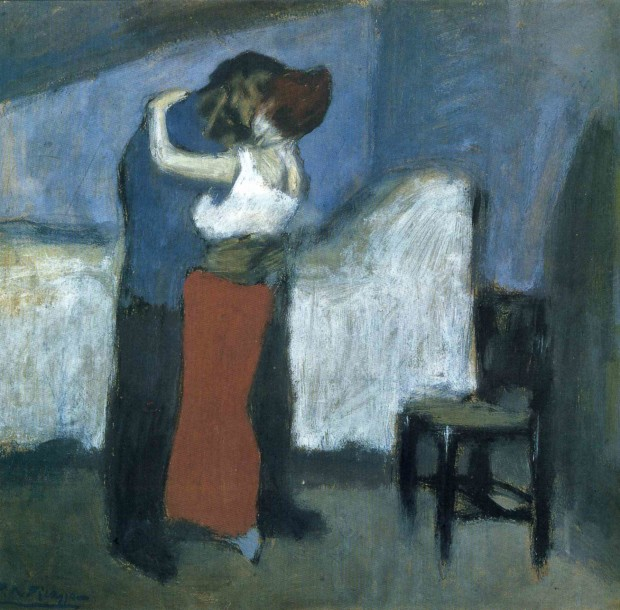 Pablo Picasso, The Meeting (The Embrace), 1900, Pushkin Museum, Moscow