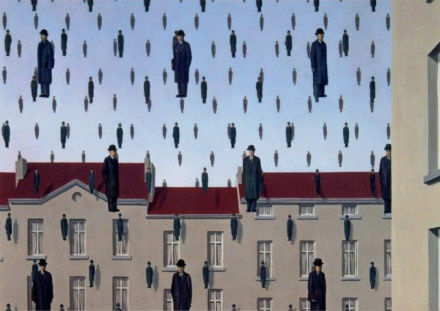 René Magritte, Golconda, 1953, The Menil Collection, Houston, Texas