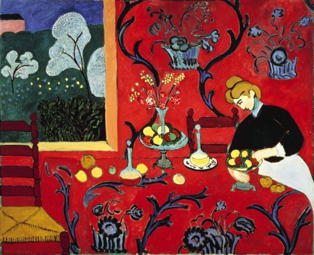Henri Matisse, The Dessert (Harmony in Red), 1908, The Hermitage Museum Shchukin collection
