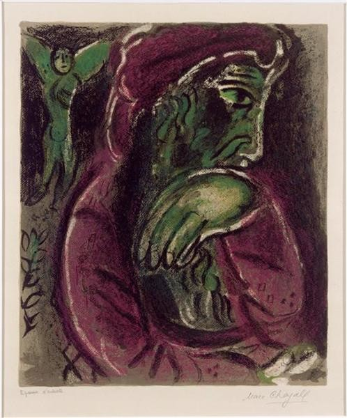 Marc Chagall, Job In Despair, 1960, Musée national Message Biblique Marc Chagall, Nice, France