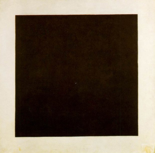 Kazimir Malevich, The Black Square, 1923, Russian State Museum, St. Petersburg