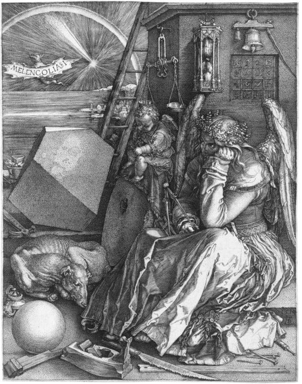 Albrecht Dürer, Melencolia I, 1514, Staatsgalerie Stuttgart, Stuttgart, Germany.