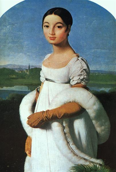 Jean Auguste Dominique Ingres, Portrait Of Mademoiselle Rivière, 1805, Musée du Louvre, Paris, France