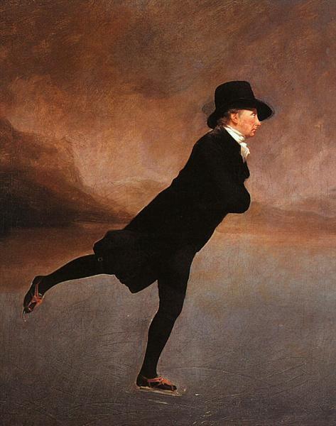 Henry Raeburn, The Skating Minister (The Reverend Robert Walker Skating On Duddingston Loch), 1784, National Gallery, Edinburgh