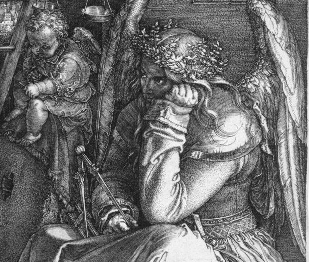 Albrecht Dürer, Melencolia I, 1514, Staatsgalerie Stuttgart, Stuttgart, Germany. Detail.