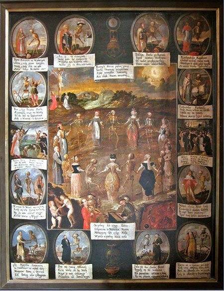 Dance of Death, St. Bernard of Siena Church, Cracow, the end of 18th century.