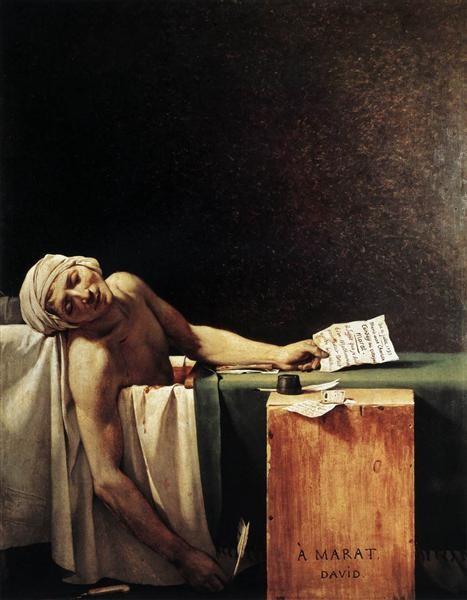Jacques-Louis David, The Death of Marat, 1793, Musée Royaux des Beaux-Arts, Brussels, Belgium