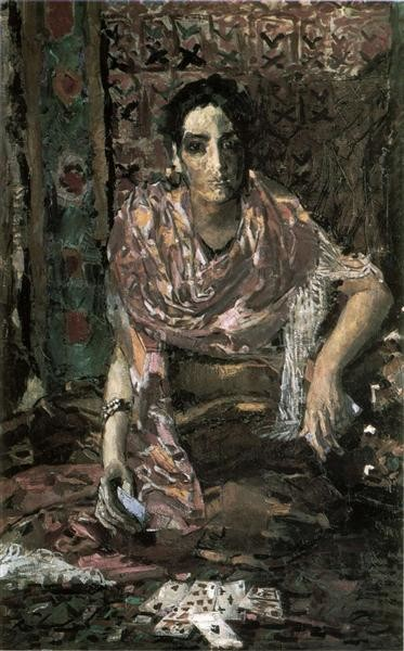 Mikhail Vrubel, The Fortune Teller, 1895, Bakhrushin Theater Museum, Moscow, Russia