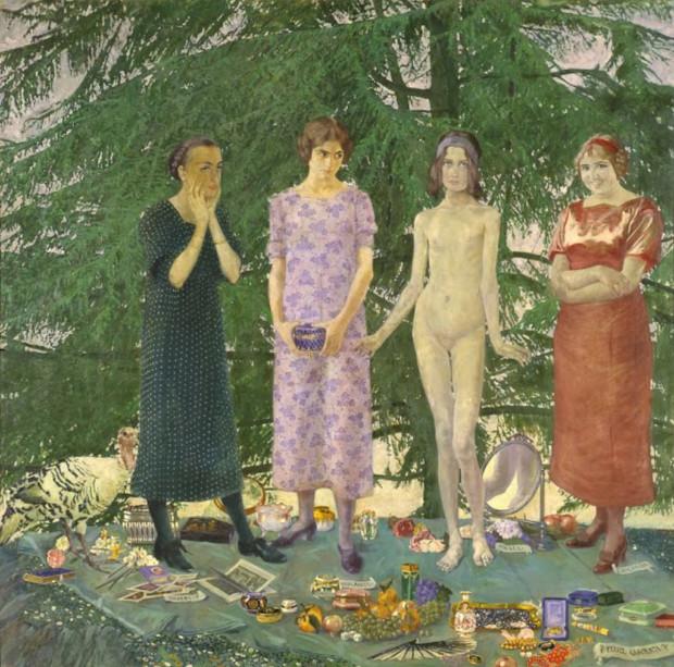 Felice Casorati, The Young Maidens, 1912, Ca'Pesaro - Galleria Internazionale d'Arte Moderna, Venice