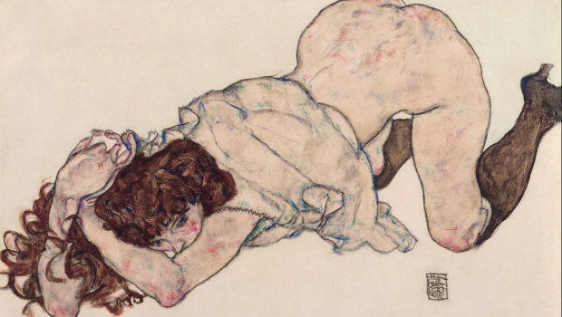 1024px-egon_schiele_-_kneeling_girl_resting_on_both_elbows_-_google_art_project-620x350
