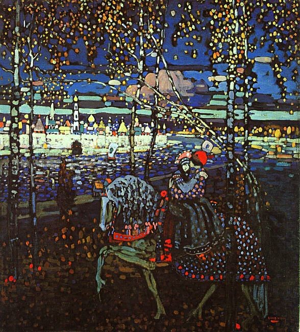 Wassily Kandinsky, Couple Riding, 1906, Munich, Germany. Lenbachhaus Gallery