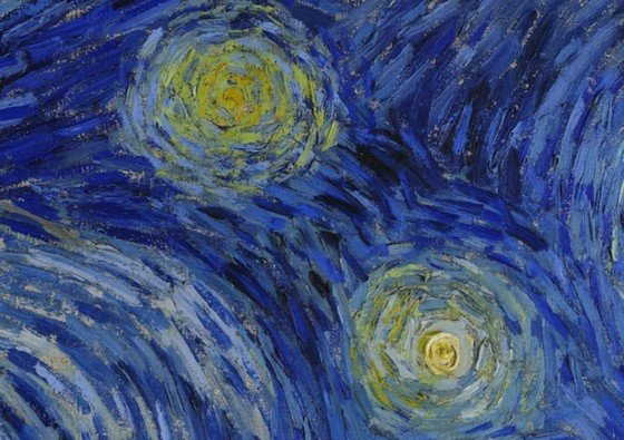 Stars (detail), Vincent van Gogh, detail The Starry Night, 1889