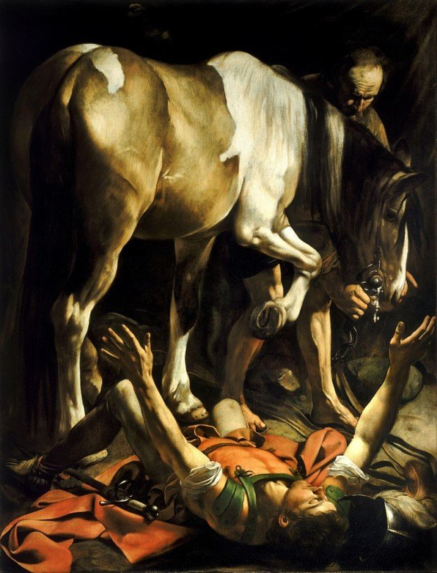 Caravaggio, Conversion on the Way to Damascus, 1600, Santa Maria del Popolo, Rome